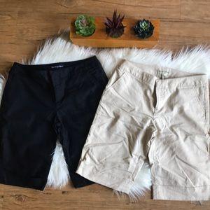 2 Banana Republic stretch cuff Bermuda shorts